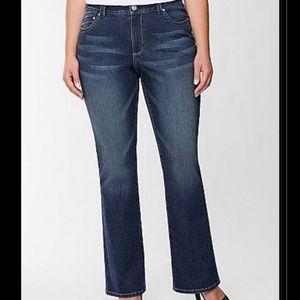 Lane Bryant Genius Fit Slim Bootcut Jeans W/ LYCRA